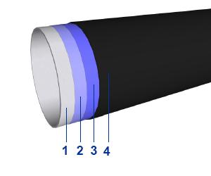 Orientační sloupek typ EX - ocelová trubka s třívrstvým potahováním polyethylenu (bralen)