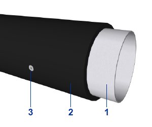 Orientační sloupek typ PE - Polyethylenová trubka s ocelovým jádrem